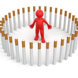 Man with Cigarettes (clipping path included)